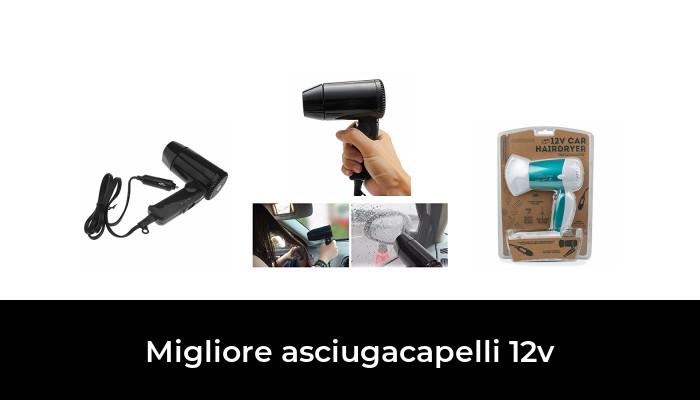 12V in auto Asciugacapelli Nero Compatto Viaggi Festival Campeggio Portatile Camper