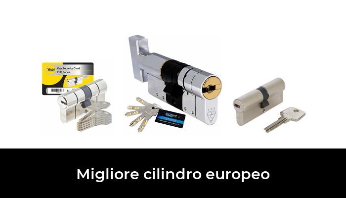 con manopola fissa Serratura per porta a cilindro europeo disponibile in ottone e nichel elemento sostitutivo resistente al trapano HomeSecure