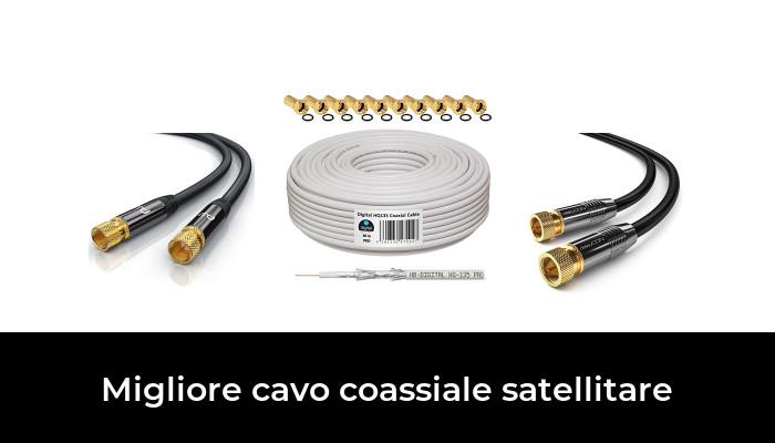 1,5m SAT Cavo Coassiale Cavo TV digitale HD Cavo Antenna Connettori F CAVO COASSIALE DORATO